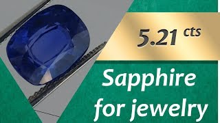 Sapphire Jewelry: Design Unique Jewelry with Sapphire 5.21 Carats