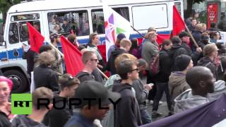 Germany: See angry refugees march on US embassy in Berlin