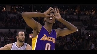 nick young game winner three pointer over manu ginobili in overtime lakers at spurs