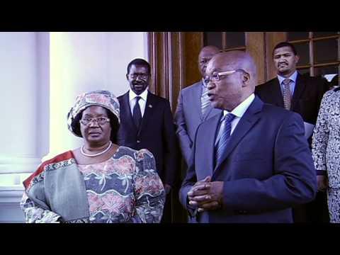 President Jacob Zuma meets the President of Malawi Joyce Banda