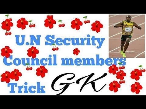2018 New GK trick on UNO Security Councils Permanent Members for SSC  by Pradeep Khillare.