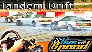 Tandem Drifting - (online multiplayer, Live for Speed v0.6G Racing Simulator) t500rs th8rs