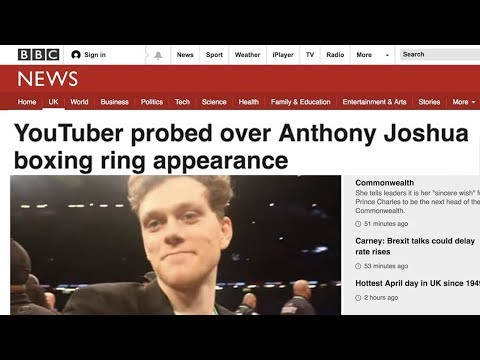 YouTuber probed over Anthony Joshua boxing ring appearance.