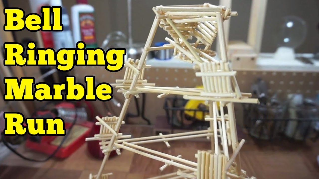 simple bell ringer marble run barb makes things 10 youtube