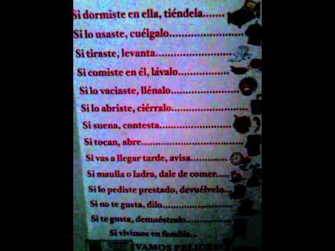 Reglas de casa my house youtube for Imagenes de las reglas de la casa