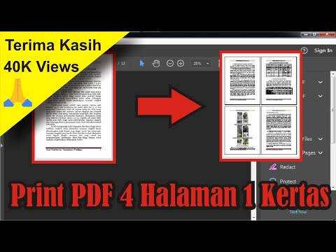 Cara Print PDF 4 Halaman 1 Kertas di Acrobat Reader DC