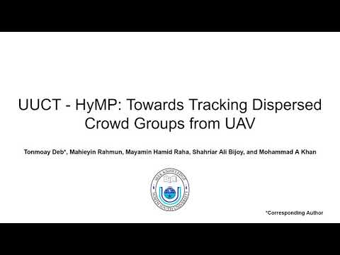 UUCT - HyMP: Towards Tracking Dispersed Crowd Groups from UAVs