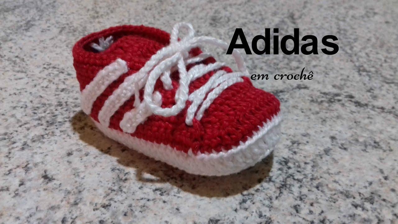 b113c0ed5 Adidas em crochê - YouTube