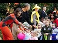 Halloween at the White House as Barack and Michelle Obama welcome trick-or-treaters