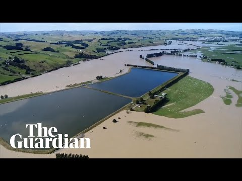 Drone footage shows extent of flooding in New Zealand's South Island