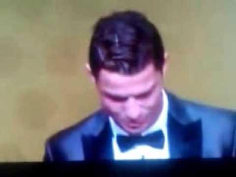 Ronaldo wins fifa ballon d'or (fifa golden ball) award 2013