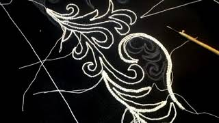 Люневильская вышивка | Вышивка крючком | Hand Embroidery | Жакет с рукавом.