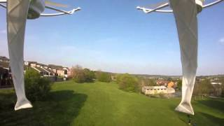 Sky drone pro v2 go pro flight
