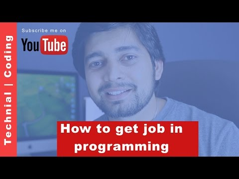 How to get job in programming field