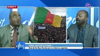 DROIT DE RÉPONSE DU 02/02/2020 (Crise sociopolitique: Bras de fer Biya-Kamto sur les réformes)