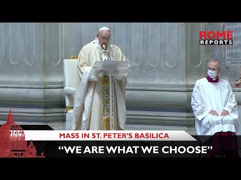 Pope to Youth: We are what we choose. Great choices lead to a life of greatness