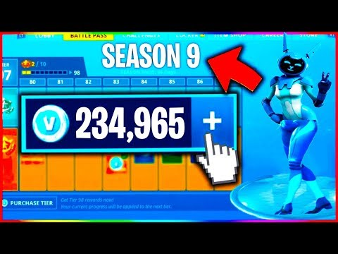 fortnite v bucks in season 9    - YouTube