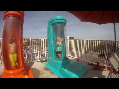 OLD LADY FLUSHED - Old Lady Drops In Scariest Slide - HD - GoPro