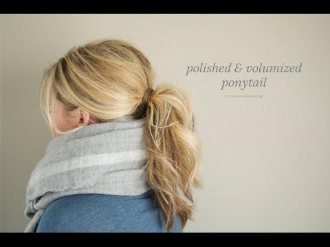 Polished And Volumized Ponytail Youtube