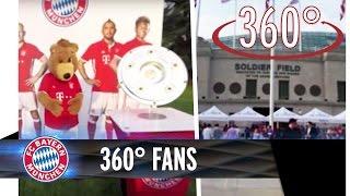 360° FC Bayern Fans | FC Bayern - AC Mailand | #AudiFCBTour