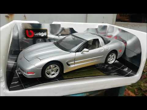 Unboxing Diecast Model 1/18 Chevrolet Corvette By Bburago Шевроле Корвет