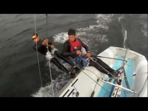 Sailing 420 in Extreme Conditions