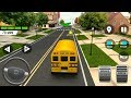 Super High School Bus Driving Simulator 3D 2018 ANDROID IOS Gameplay HD #busgames #cars