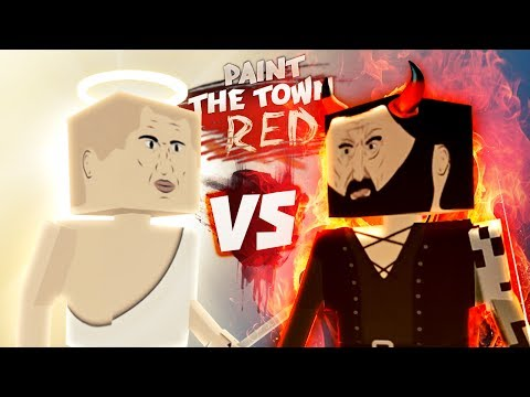 HEAVEN VS HELL - Paint the Town Red Gameplay - Good vs Evil Battle in PTTR Workshop Creations - Duur: 27:07.