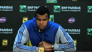 Tsonga Discusses Djokovic Loss In Indian Wells