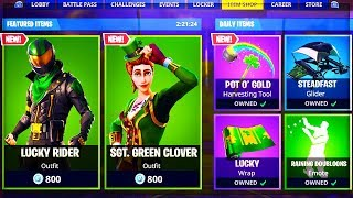 "🔴 NEW SKIN ""SAINT PATRICK"" in the BOUTIQUE of 17 MARCH on Fortnite!"