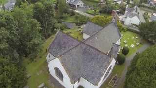 Llangernyw village, Hafodunos Hall and oldest Yew tree in Europe