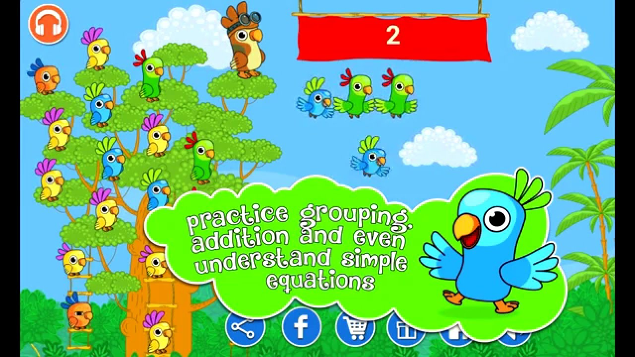 Counting Parrots , Math and Numbers Learning Activities for Kids ...
