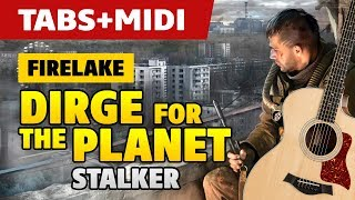[STALKER OST] Firelake – Dirge for the Planet (acoustic guitar cover, tutorial with tab)