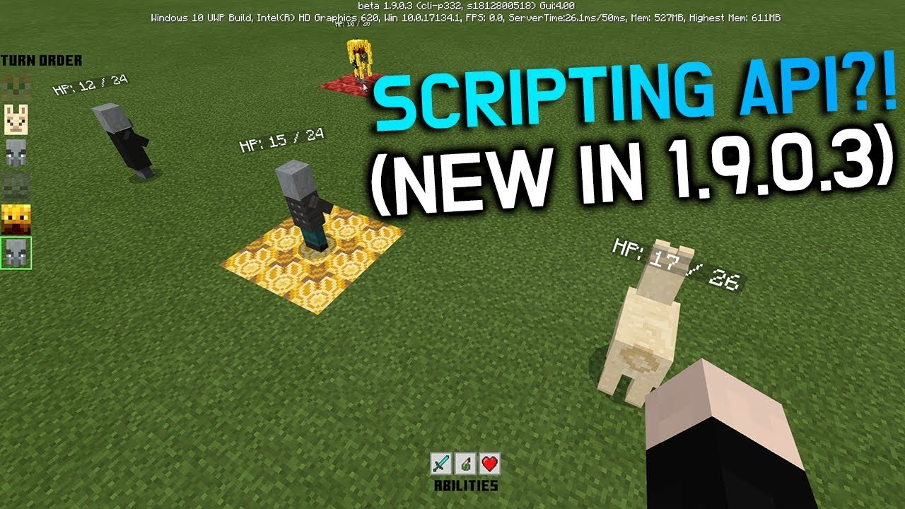 How to use the NEW in Minecraft 1 9 0 3SCRIPTING API