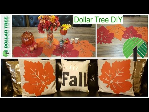 Dollar Tree Fall Diy Pillow Covers Table Runner Home Decor Youtube