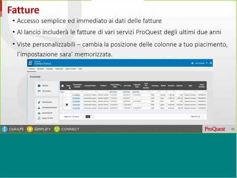 ProQuest Invoice Portal: The Basics – Italian