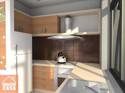 Amenajare apartament 2 camere living bucatarie si dinning for Design apartment 2 camere