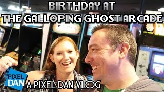 Galloping Ghost Arcade Birthday - A Pixel Dan Vlog