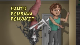 Woman Ghost from the Ceiling | Funny Cartoon Ghost STory - Rizky Riplay
