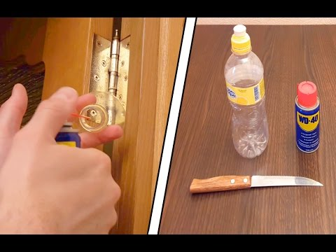 Лайфхак Как устранить дверной скрип - How To Fix A Squeaking Door