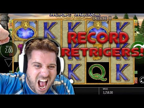 YOUTUBE RECORD Retriggers on Magic Mirror - MEGA BIG WIN!! ( Online Casino )