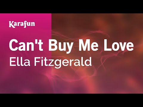 Karaoke Can't Buy Me Love - Ella Fitzgerald *