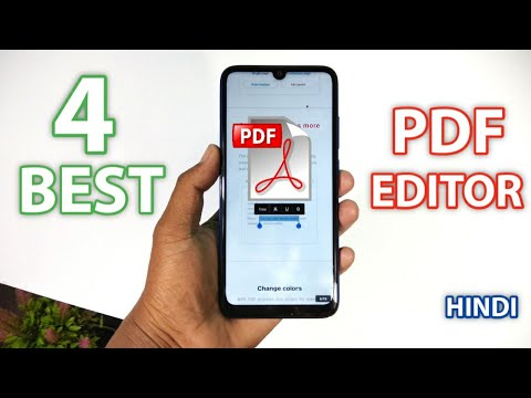 Top 4 Best PDF Editor & Reader For Android | Best Pdf Editor