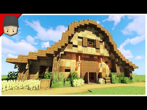 How to Build a Barn/Stables in Minecraft (Minecraft Build Tutorial)