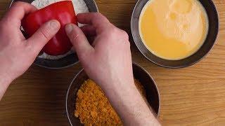 Панированные перцы с начинкой – новый хит из вашей духовки!