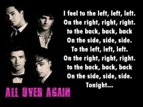Big Time Rush -All over again Lyrics on screen