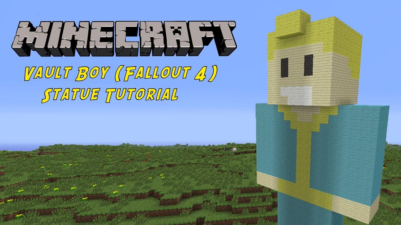 Minecraft Tutorial Vault Boy Fallout Statue YouTube