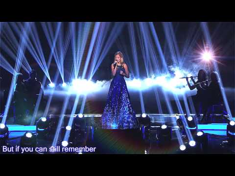 Think of Me by Jackie Evancho AGT 2014 (lyrics)