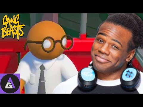 Gang Beasts: WWE's Xavier Woods Teaching Us Moves | Four Play
