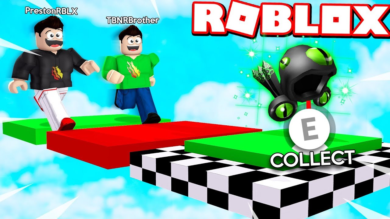 Roblox 1v1 Obby Race Vs My Little Brother If He Wins He Gets My